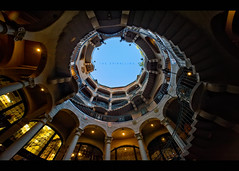 The Spiralling v2 (isayx3) Tags: california stairs lights nikon angle riverside columns wide sigma rail stairwell 365 f28 d3 missioninn exposures 14mm plainjoe isayx3