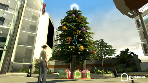 PlayStation Home Holiday Tree