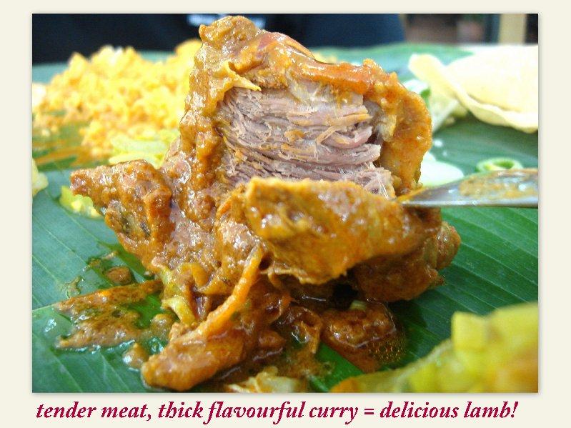 The lamb at Restoran Purnama Cahaya
