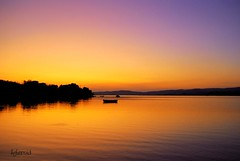 The Porto Heli lagoon in the twilight (Aster-oid) Tags: reflections boats twilight silhouettes sunsets greece lagoons argolida fisherboats portoheli ff69