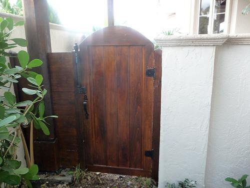 Custom Solid Wood Patio Gate