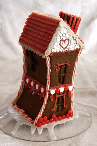 topsy-turvy gingerbread house