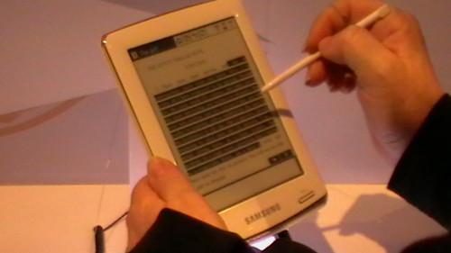 Il nuovo ebook reader di Samsung