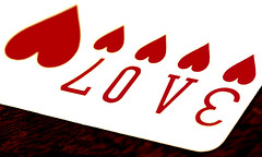Love the Cards (David Prior) Tags: red white abstract macro love bicycle heart bokeh poker vision numbers luck lucky playingcard canon100mm victorcherbuliez