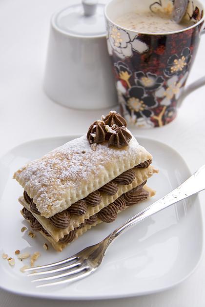 Feuilleté au chocolat fondant