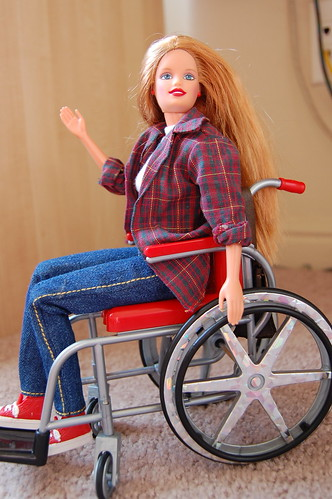 Wheelchair Barbie. Day 22