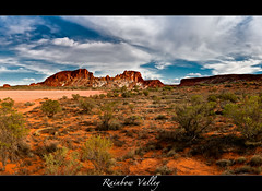 Rainbow Valley (Kaj0 / kajophotography.com) Tags: sky panorama clouds sand desert stitch redsand redrocks northernterritory alicesprings redcentre rainbowvalley stuarthighway desertsand