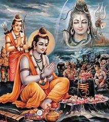 Ram worships Shiva (simonram) Tags: artwork vishnu lord sri gods shiva ram hindu raghav goddesses sita shankar rama raja raam shiv prabhu sree shri ramayana shankara ramayan darbar mahadev bhagwan shivji mahadeva shambhu ragupathi ragupati indraasharma
