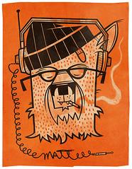 invincible werewolf (jublin) Tags: music orange werewolf glasses beanie coors