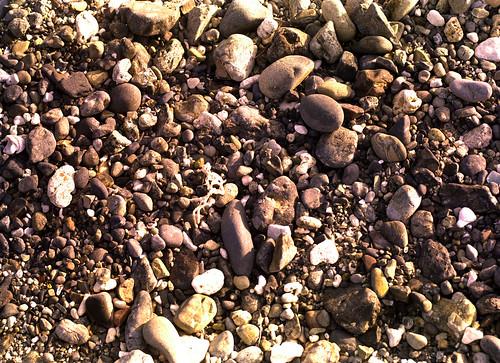 海岸の石ころ