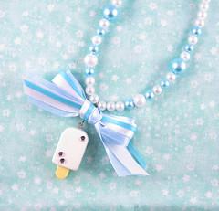 BlueNecklaceCharm (Sweet_Suzette) Tags: pearls bows necklaces sweetlolita