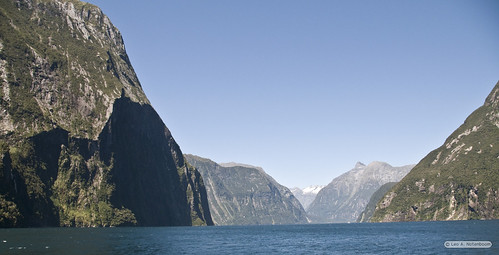 The Entry into Milford Sound from the Tasmanian Sea