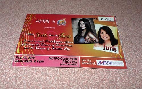 Sitti and Juris Pre-Valentine Concert at Metrobar