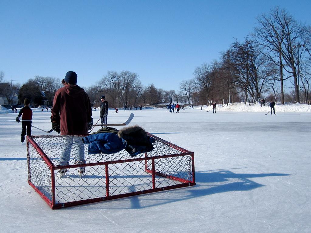 2.14.10 (315/365) - Hockey on Lake Mendota