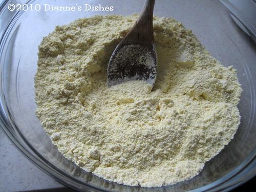 Gluten Free Parmesan Cornbread: Dry Ingredients