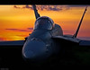As the Sun Sets... (~Clubber~) Tags: light sunset canada plane canon airplane photography flying searchthebest dusk aircraft aviation military flight jet aeroplane airshow passion hornet cf18 canadianforces fighterjet blueribbonwinner mywinners platinumphoto goldstaraward