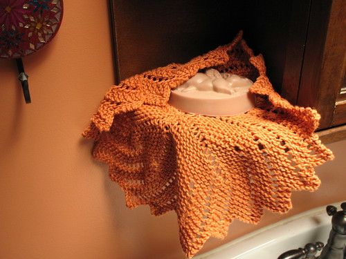 Orange Blossom washcloth