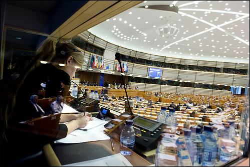 In the EP Chamber 22 languages are spoke by European Parliament, on Flickr