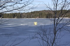 Sinking Bob House (7) (Andre Reno Sanborn) Tags: icefishing websterlake franklinnh bobhouses