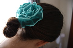 Ribbon Flower in Hair