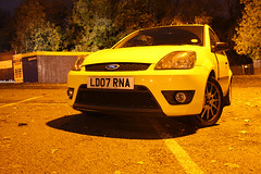 Ford Fiesta ZetecS (Andrew_Simpson) Tags: nightphotography ford car yellow night fiesta zetec fiestazetecs fordfiesta 40thanniversary zetecs worldcars fiestazetec fiestaanniversary
