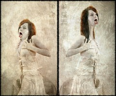 Seraphic Society - Shelley Frederick (Butoh) diptych
