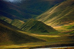 The landscape on the south bank of the Ma Chu (reurinkjan) Tags: bosgrunniens mywinners colorphotoaward tibetanlandscape   janreurink amdo tibetanplateaubtogang yak landscape mountainri 2009 tibet wildernessanimalsgnpridak gabdecounty machuyellowriver wildlifegrassland