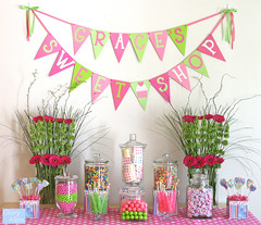 Grace's candy buffet (Glorious Treats) Tags: birthday pink party candy sweet banner buffet sweetshop candybuffet glorioustreats