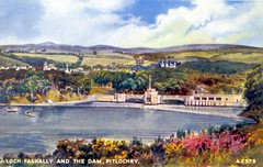 Perthshire, Pitlochry, Loch Faskally and the Dam 1959
