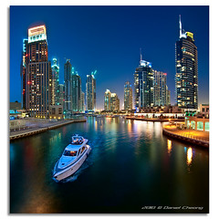 Cruising the Blue Hour (DanielKHC) Tags: blue panorama water marina reflections boat interestingness high nikon dubai cityscape dynamic uae 9 explore hour range fp frontpage dri hdr d300 danielcheong danielkhc tokina1116mmf28 gettyimagesmeandafrica1