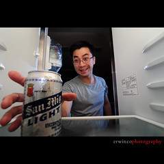 Day Twenty Four (Erwin Co Photography) Tags: beer glasses fridge sb600 can explore 365 refrigerator erwin sanmiguelbeer smb ref sanmiglight sb800 d90 strobist challengeyouwinner 1116mmf28