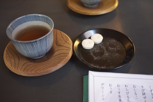 Rakugan and tea