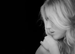 [フリー画像] [人物写真] [女性ポートレイト] [白人女性] [横顔] [モノクロ写真]      [フリー素材]