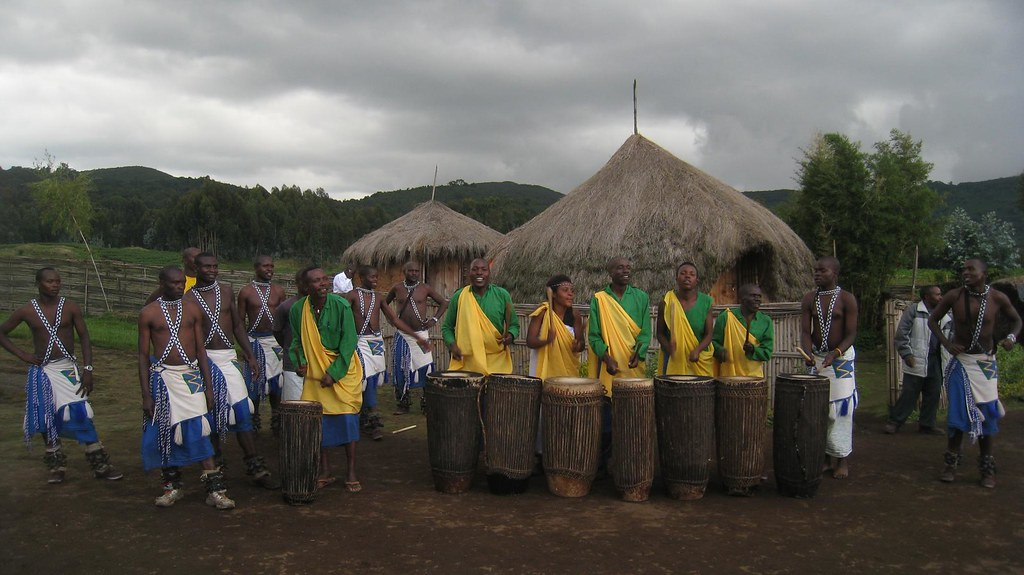 The dancers prepare for another performance