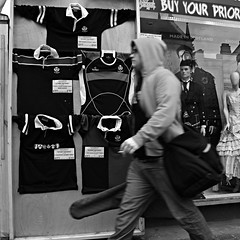 on the move (backroom.angel) Tags: street cinema square mono scotland blackwhite edinburgh squares g11 500x500 bsquare