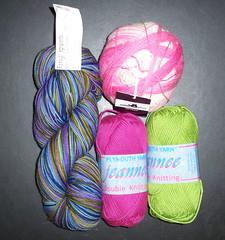 Knitter's Edge - Fingerpaints- Jeanne-Zauberball