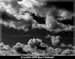 Les tribulations de Caelus (Gislaadt Art - huge CFIDS crisis) Tags: sky cloud monochrome ciel nuage myth cieux welkin justclouds