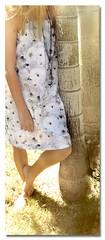 White Wild Rose Dress (KristopherK) Tags: digital print design natural linen textile fabric cotton material printed anawesomeshot spoonflower kristopherk
