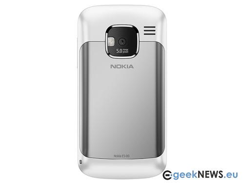 nokia e5 white. Nokia E5 White Back