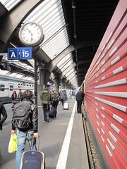 Boarding at Basel train station