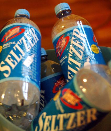 plastic seltzer bottles