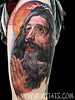 Jesus Christ Realistic Tattoo of