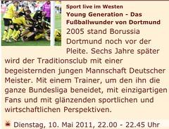 wdr.de Screenshot: Young Generation - Das Fußballwunder von Dortmund