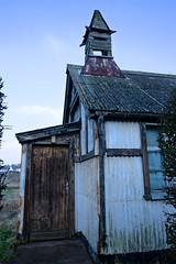 White Chapel (violetchicken977) Tags: corrugatediron chapel dunsdale ironstonemining neglect abandoned rust owf