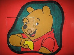 Winnie the Pooh at the tea museum