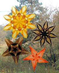 4 Thanksgiving Stars (Pictures by Ann) Tags: thanksgiving autumn moon holiday fall home window by paper star origami hand natural handmade waldorf decoration harvest translucent etsy decor steiner madebyhand harvestmoonbyhand