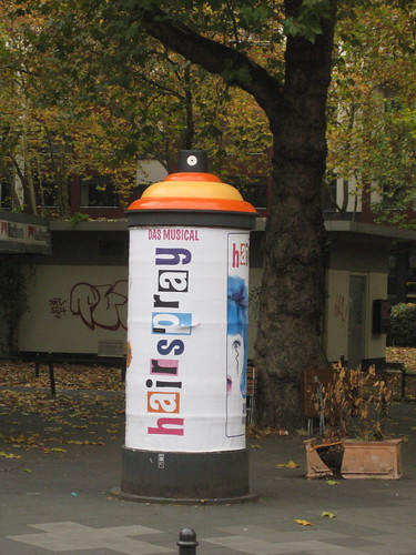 Advertisment for the Musical Hairspray in Koeln (cologne)