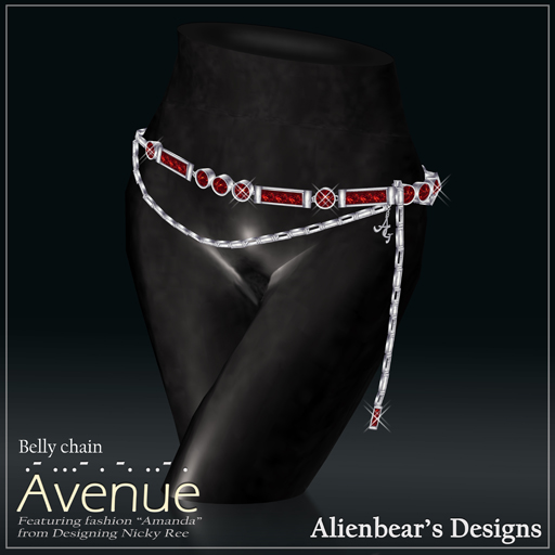Avenue bellychain red