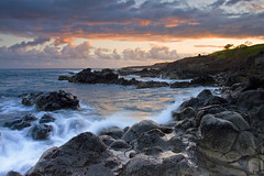East of Ho'okipa Beach, Maui Hawaii (Ivan Sohrakoff) Tags: seascape beach clouds sunrise landscape photography hawaii rocks surf waves maui hookipa