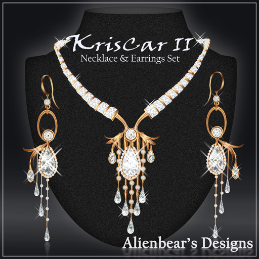 KrisCarII gold N&E set white